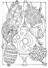 Dibujo para colorear farolillos