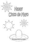Dibujo para colorear Feliz Cinco de mayo