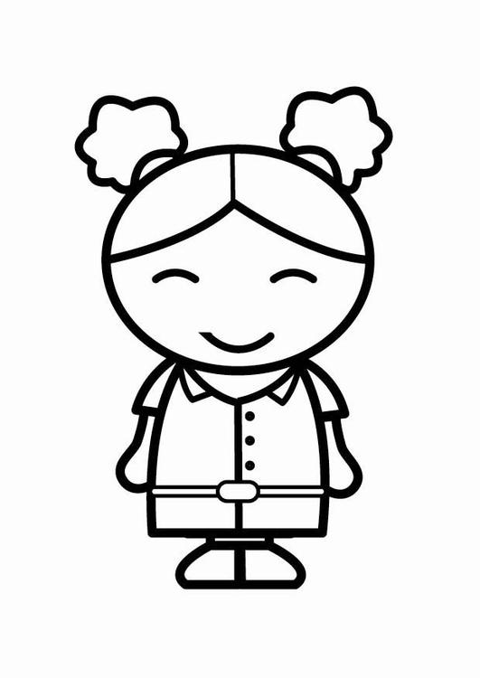 Dibujo para colorear feliz - Img 24033
