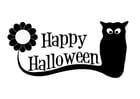 Dibujo para colorear Feliz halloween