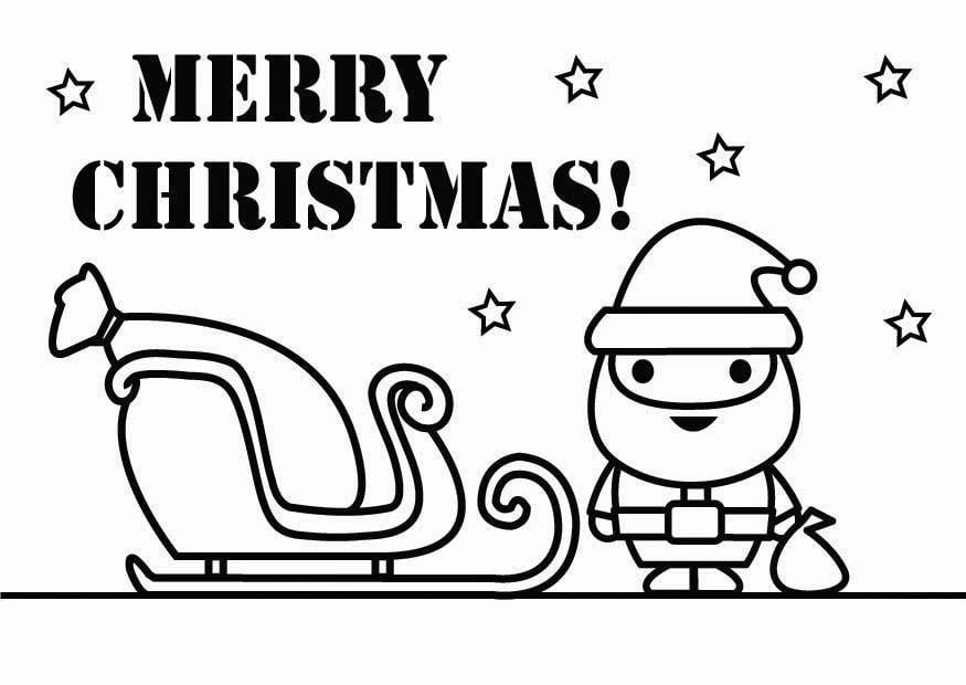 Dibujo para colorear Feliz Navidad - Img 26431