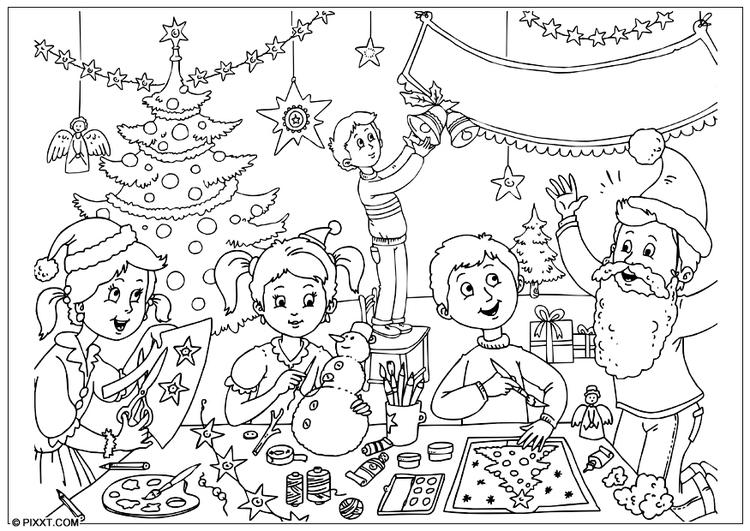 Images of Feliz Navidad Para Colorear - #SpaceHero