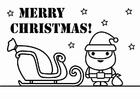 Dibujo para colorear Feliz Navidad
