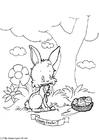 Dibujo para colorear Feliz pascua
