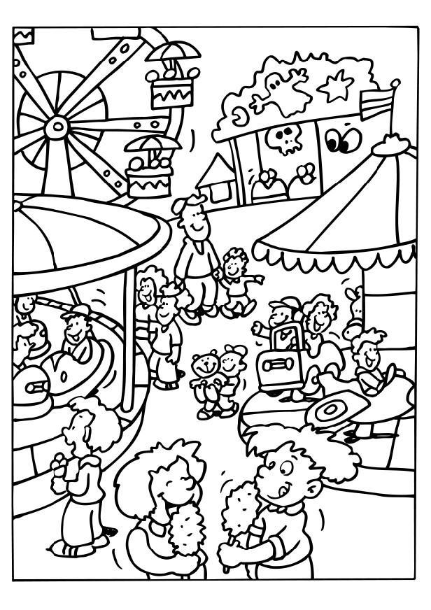 Dibujo para colorear Feria - Img 6514