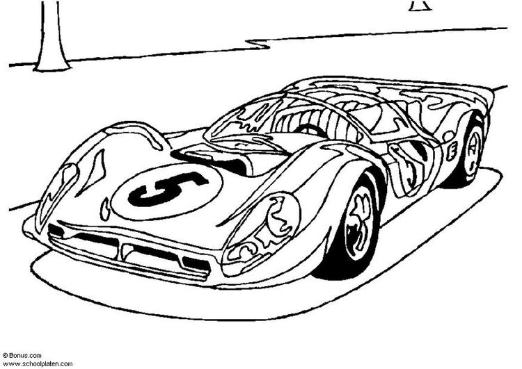 Dibujo para colorear Ferrari P 4   Img 5439