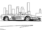 Dibujo para colorear Ferrari Testarossa