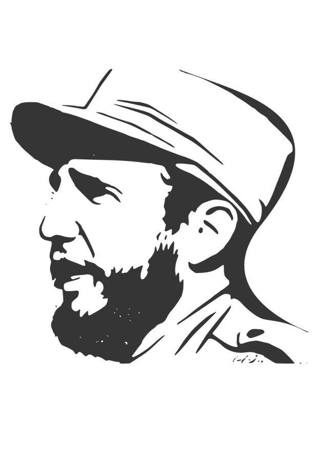 Volwassenen Y Kleurplaten Dibujo Para Colorear Fidel Castro Img 29893 Images