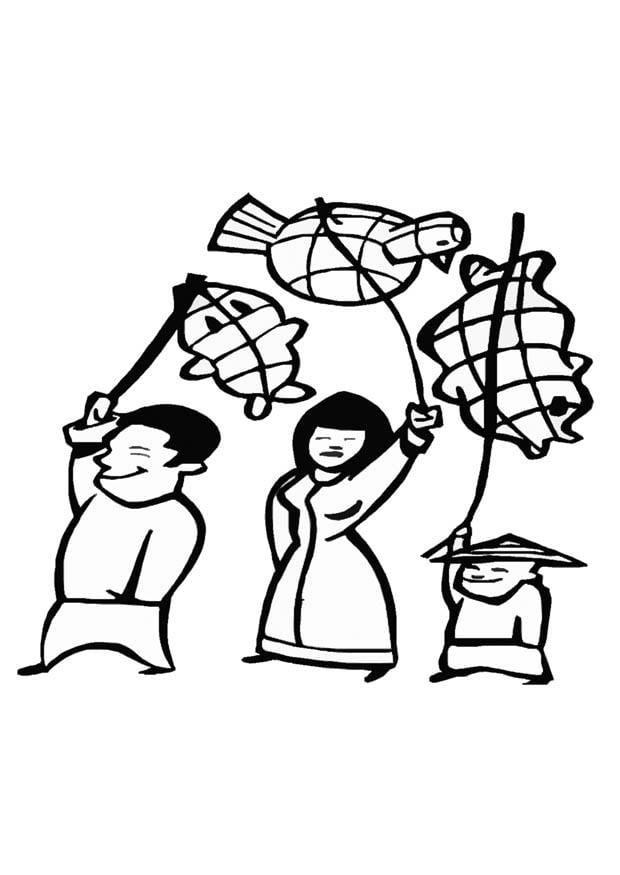 Dibujo Para Colorear Fiesta China Dibujos Para Imprimir