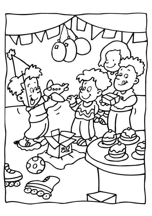 Dibujo para colorear Fiesta de cumpleaños - Img 6560
