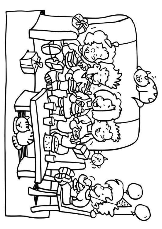 Dibujo para colorear Fiesta de cumpleaños - Img 6495