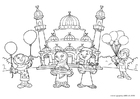 Dibujo para colorear Fiesta del azucar