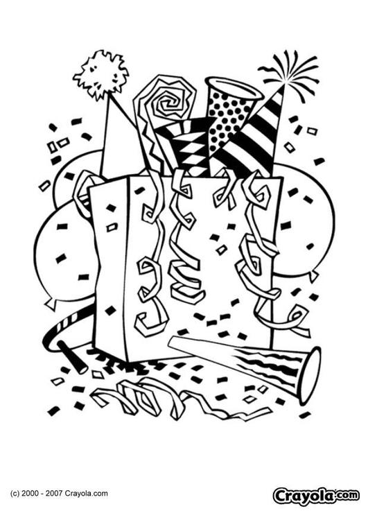 Dibujo para colorear Fiesta - Img 7829