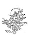 Dibujo para colorear Figura budista