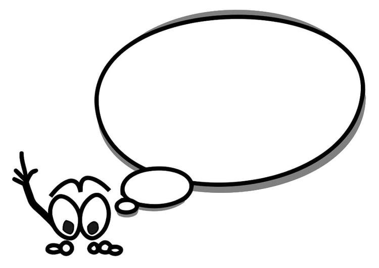 Dibujo para colorear figura con globo de texto - Img 19662