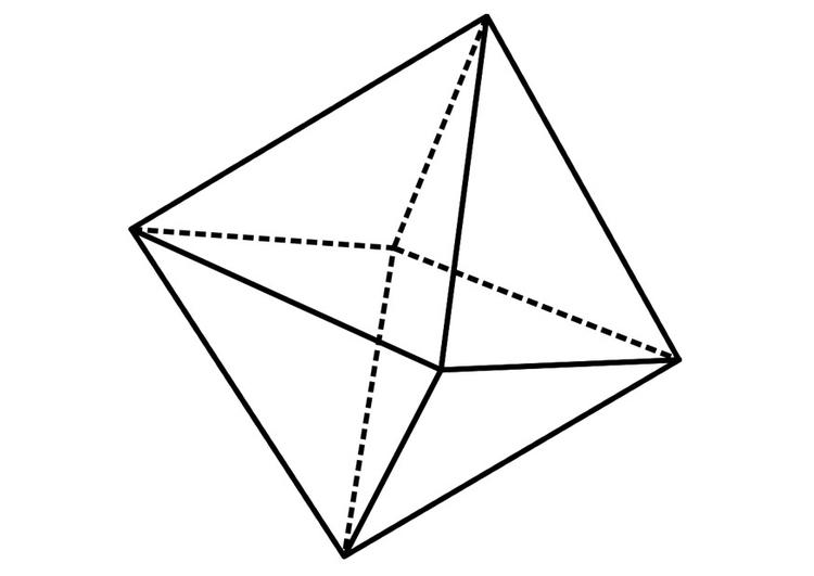Dibujo para colorear figura geométrica - Img 19237