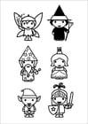 Dibujo para colorear figuras de cuento