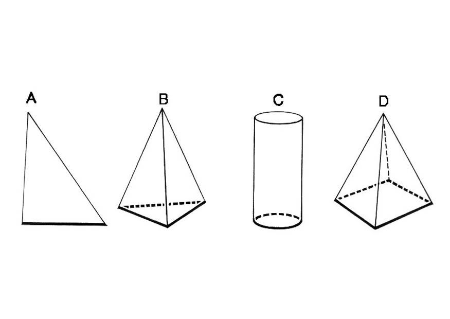 Dibujo para colorear figuras geomtricas  base  Img 18743