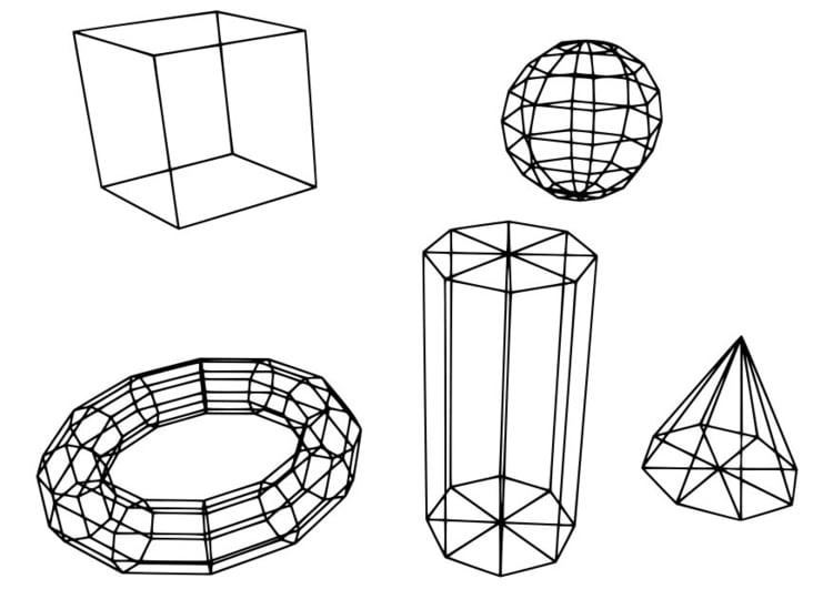 Dibujo para colorear figuras geométricas - Img 18724