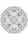 Dibujo para colorear flor de mandala