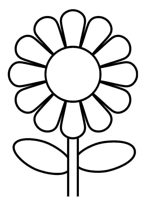 Dibujo para colorear flor - Img 19246