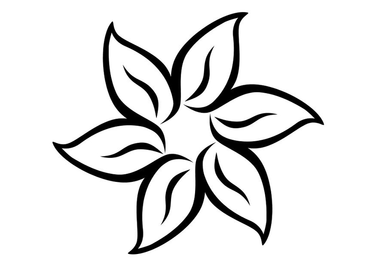 Dibujo para colorear Flor - Img 11710