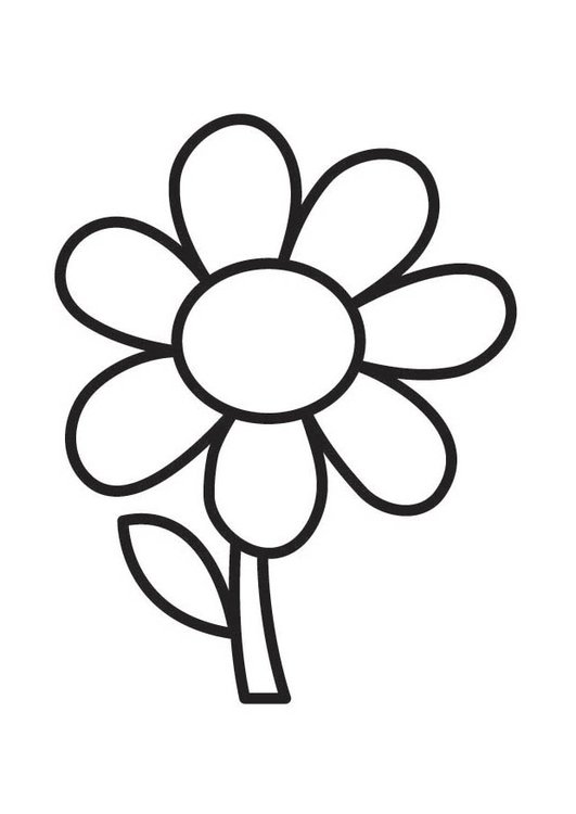 Dibujo para colorear flor   Img 18352