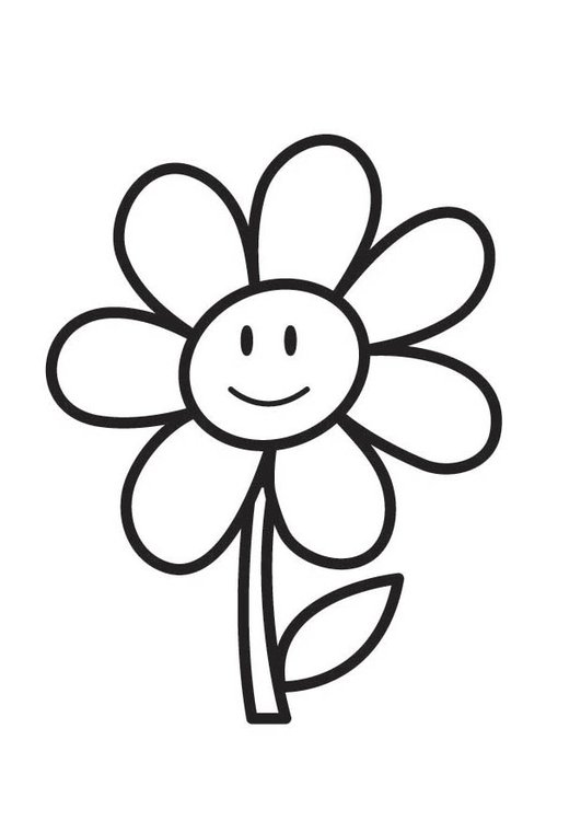Dibujo para colorear flor - Img 18354