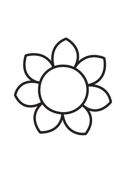 Dibujo para colorear flor - Img 18356