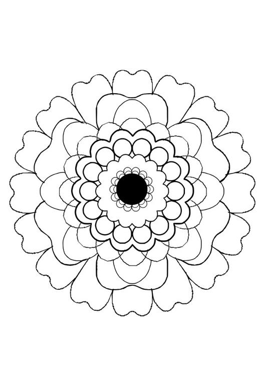 Dibujo para colorear flor - Img 29131