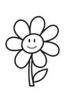 Dibujo para colorear flor