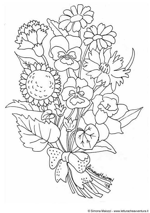 Dibujos Para Colorear De Flores Grandes Imagesacolorierwebsite