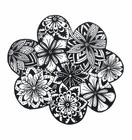 Dibujo para colorear flores