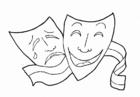 Dibujo para colorear Formación musical - Teatro