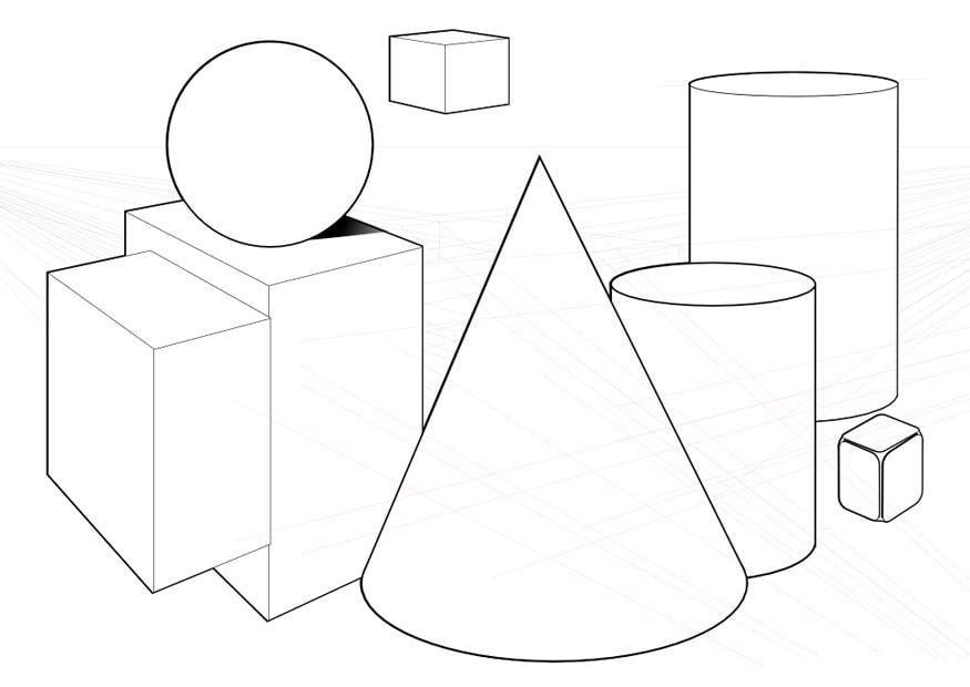Dibujos De Objetos De Cuerpos Geometricos Objetos Con Figuras