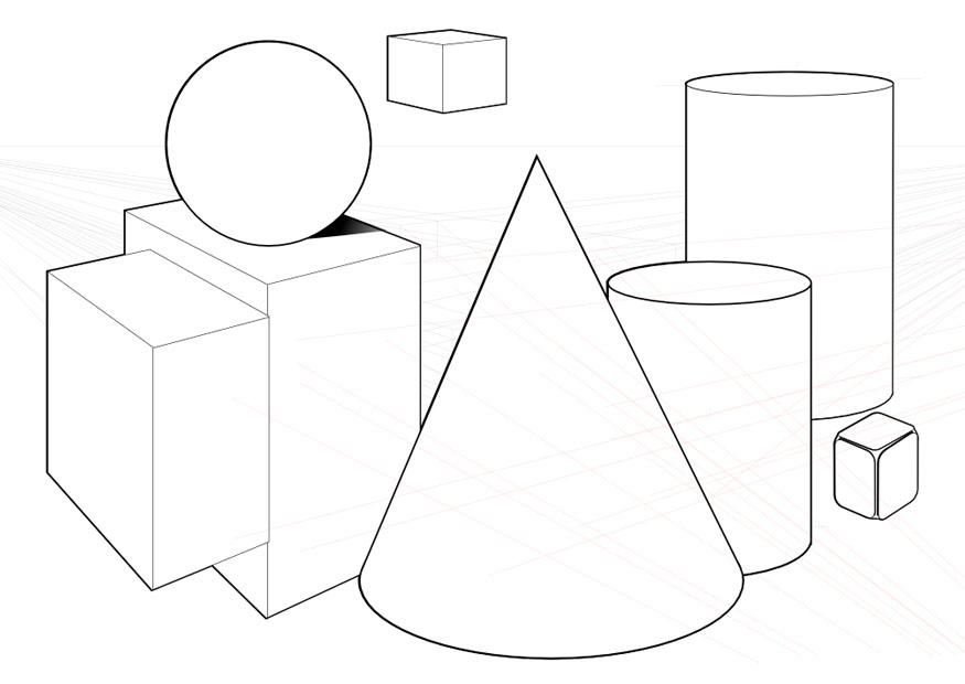 Dibujo Para Colorear Formas Geométricas