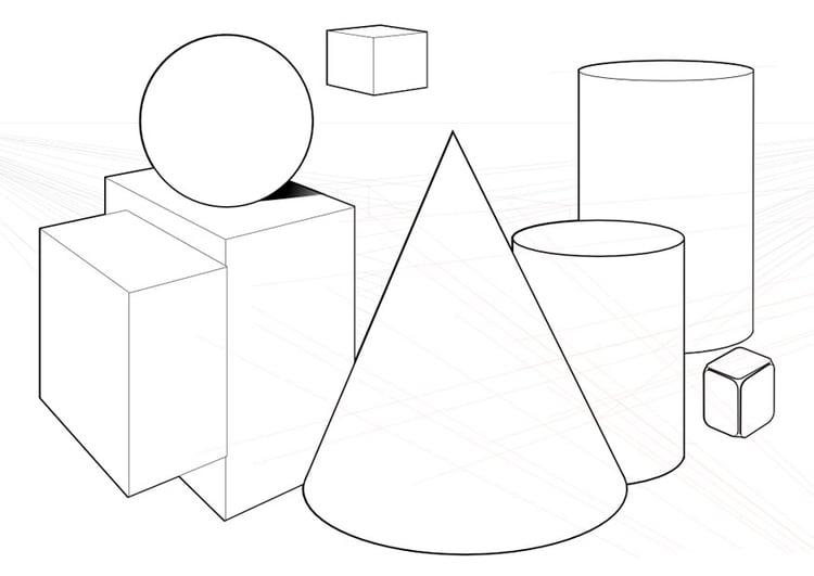 Dibujo para colorear Formas geométricas - Img 10040