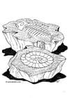Dibujo para colorear Fósil