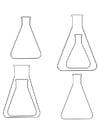 Dibujo para colorear frascos de Erlenmeyer