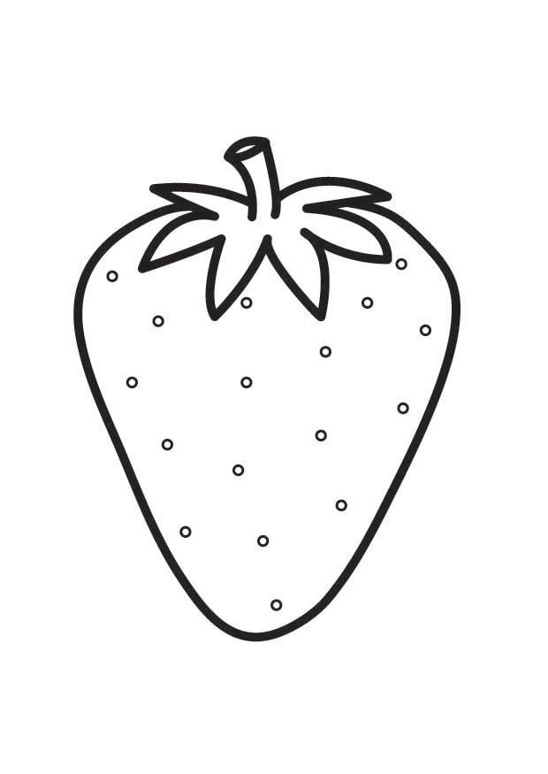 Dibujo para colorear fresa img 23174 for Dibujo de una piedra para colorear