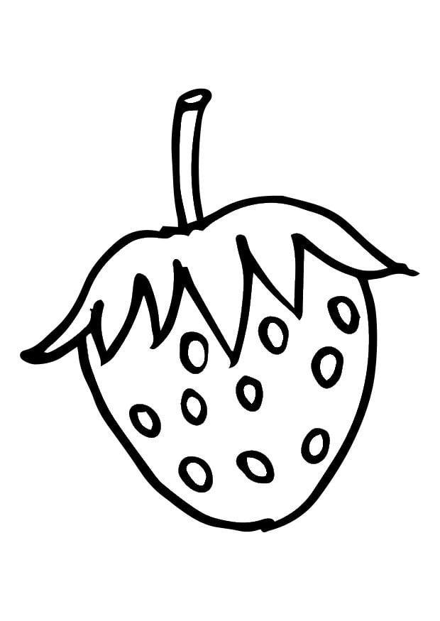 Dibujo para colorear fresa - Img 28733