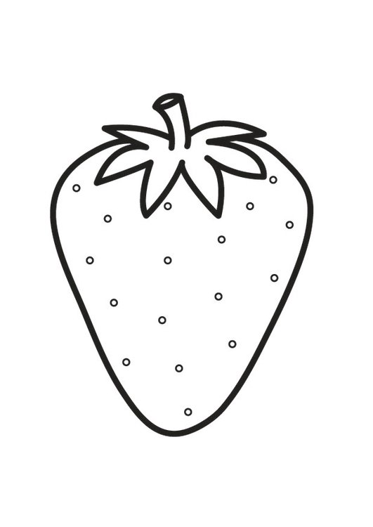 Dibujo para colorear fresa   Img 23174
