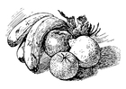 Dibujo para colorear fruta