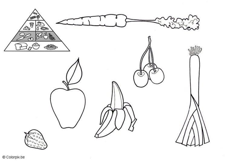 Dibujo Para Colorear Frutas Y Verduras Img 5675 Images