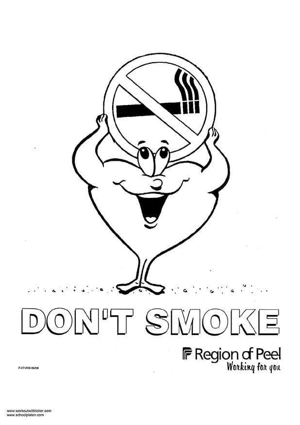 Dibujo para colorear Fumar - Img 2976