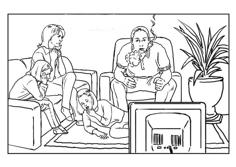 Dibujo para colorear Fumar - Img 7662
