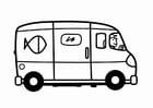 Dibujo para colorear furgoneta