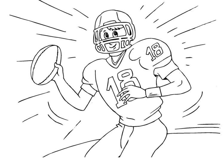Dibujo para colorear fútbol americano - Img 25985