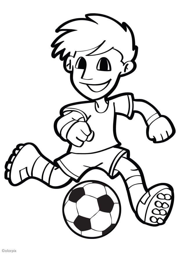 Dibujo para colorear fútbol - Img 26047