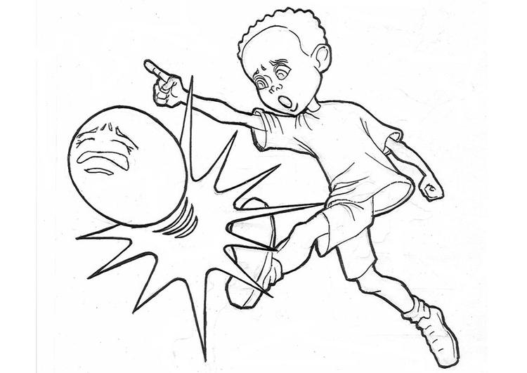 Dibujo para colorear Fútbol - Img 12035